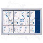 SCT vitrína Textilní stěna 21xA4 Modrá