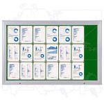 SCT vitrína Textilní stěna 21xA4 Zelená