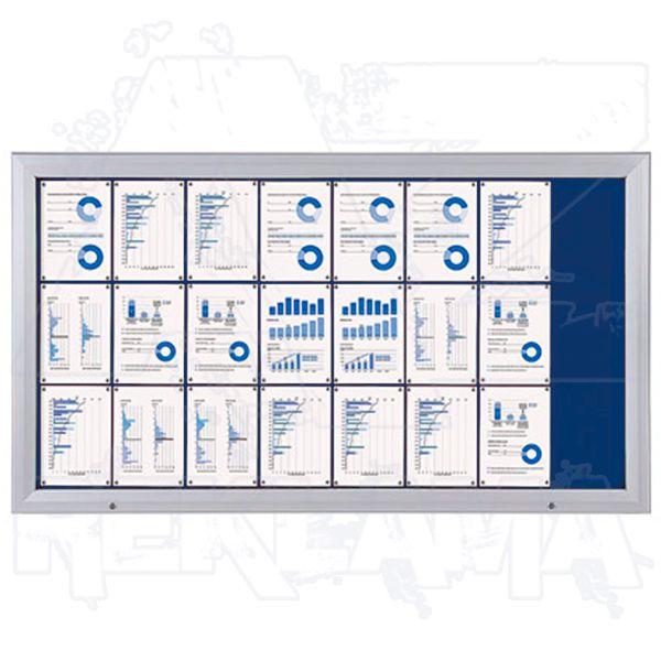 SCT vitrína Textilní stěna 24xA4 Modrá