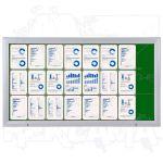 SCT vitrína Textilní stěna 24xA4 Zelená
