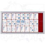 SCT vitrína Textilní stěna 27xA4 Červená