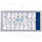 SCT vitrína Textilní stěna 27xA4 Modrá