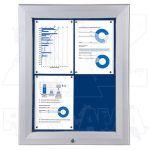 SCT vitrína Textilní stěna 4xA4 Modrá