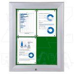 SCT vitrína Textilní stěna 4xA4 Zelená