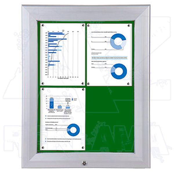 SCT PREMIUM - venkovní vitrína s Textilní stěnou 4xA4 Zelená