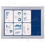SCT vitrína Textilní stěna 8xA4 Modrá