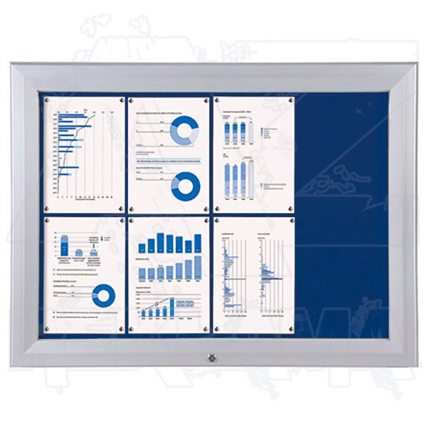 SCT PREMIUM - venkovní vitrína s Textilní stěnou 8xA4 Modrá