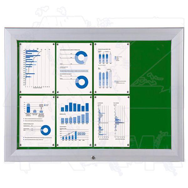SCT PREMIUM - venkovní vitrína s Textilní stěnou 8xA4 Zelená