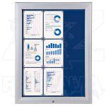 SCT vitrína Textilní stěna 9xA4 Modrá