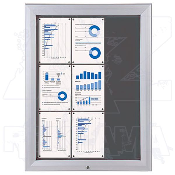 SCT PREMIUM - venkovní vitrína s Textilní stěnou 9xA4 Šedá