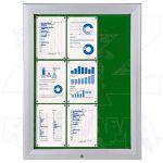SCT vitrína Textilní stěna 9xA4 Zelená