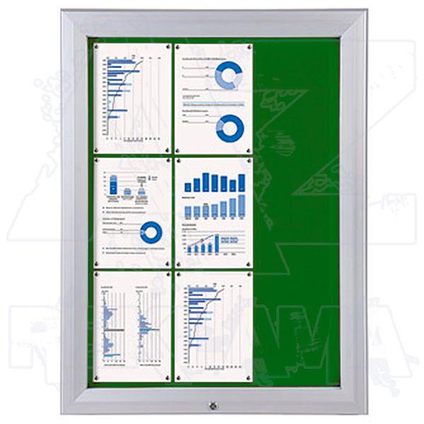 SCT PREMIUM - venkovní vitrína s Textilní stěnou 9xA4 Zelená