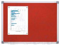 Textilní Červená nástěnka 90x180