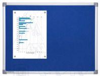 Textilní Modrá nástěnka 90x180