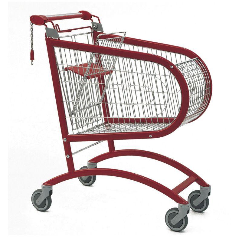 Nákupní vozík Avant P 140 - Košík s dětskou sedačkou