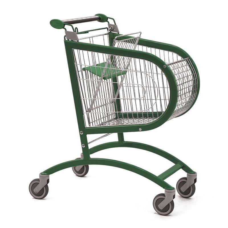 Nákupní vozík Avant P 90 - Košík s dětskou sedačkou