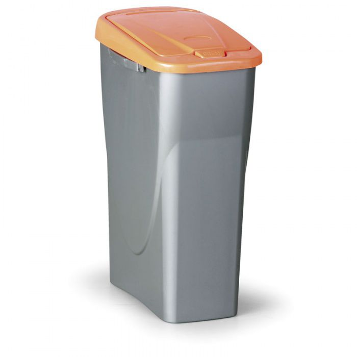 Odpadkový koš ECOBIN, Objem 40 litrů, oranžové víko