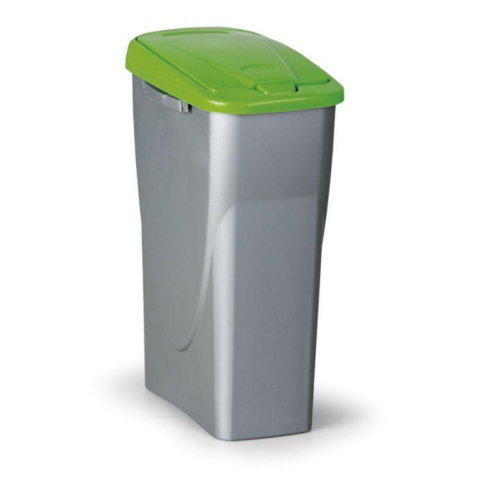 Odpadkový koš ECOBIN, Objem 40 litrů, zelené víko