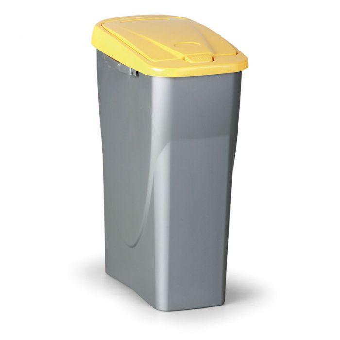 Odpadkový koš ECOBIN, Objem 40 litrů, žluté víko