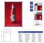 Hliníkový Clip rám profil 25 mm - Oblý roh A0 A-Z Reklama CZ