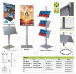 Info Pole s klaprámem A1 oboustranný - oblý roh A-Z Reklama CZ