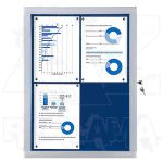 Vitrína Economy 4xA4 - textilní modrá