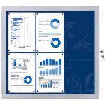 Vitrína Economy 6xA4 - textilní modrá