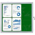Venkovní informační vitrína SCRITTO ECONOMY 6xA4, zelená textilní záda A-Z Reklama CZ