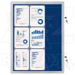 Vitrína Economy 9xA4 - textilní modrá