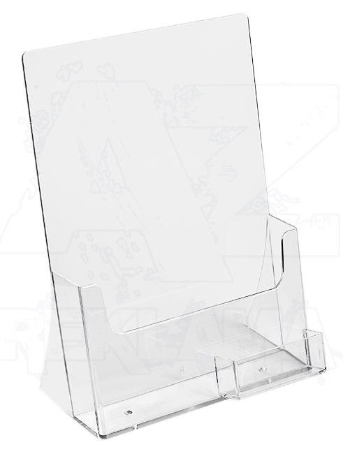 Plastový stojánek A4 se zásobníkem na vizitky
