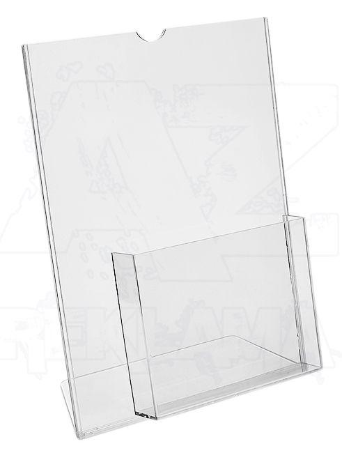 Plastový stojánek 1 list A4 + zásobník na A5