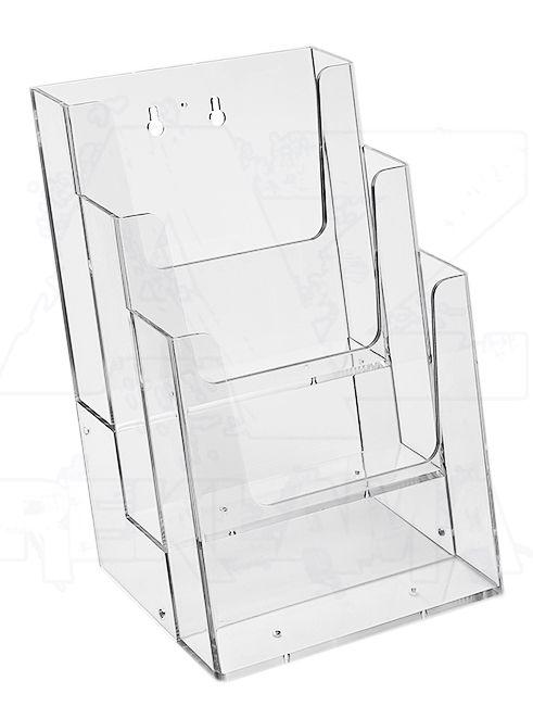 Plastový zásobník 3x A4 nad sebou, na zeď