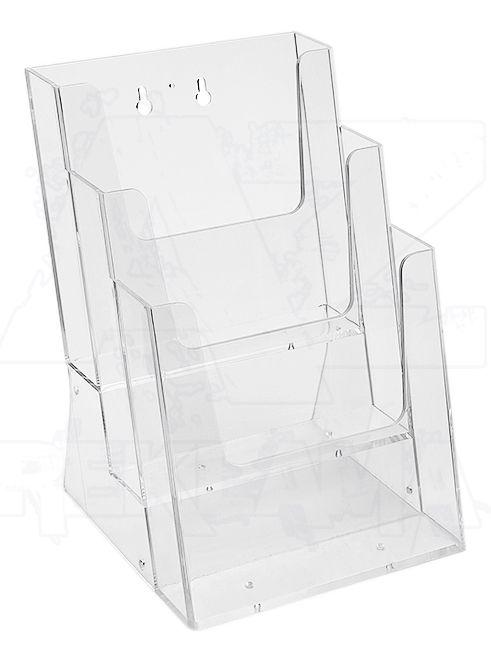 Plastový stojánek na letáky 3x A5 nad sebou stojací
