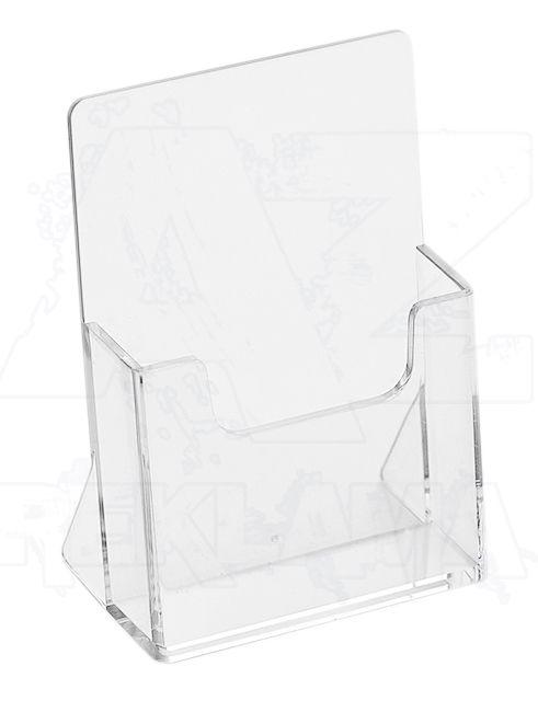 Plastový stojánek na vizitky na výšku stojací