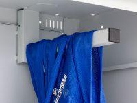 Skříň na míče, 1970x900x400 mm, Modrá konstrukce, dveře Černé Triton