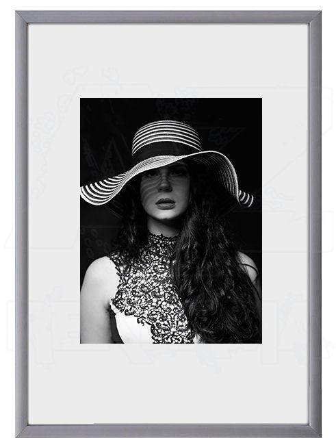 Hliníkový Foto rámeček 10x15 cm - Stříbrná matná