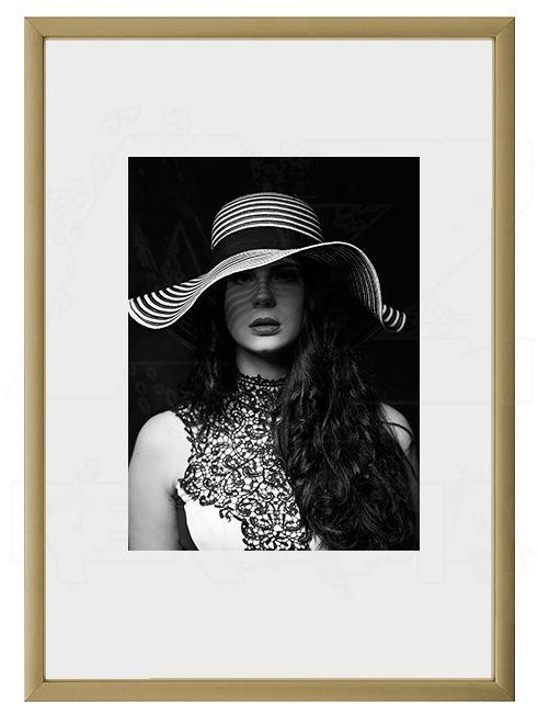 Hliníkový Foto rámeček 10x15 cm - Zlatá matná