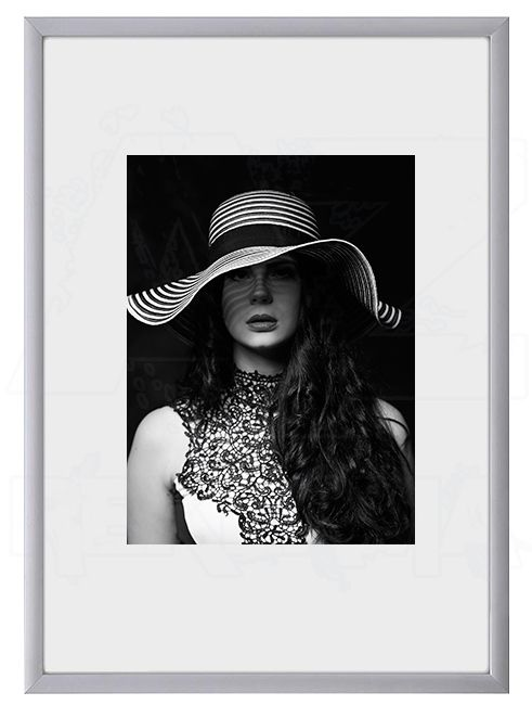 Hliníkový Foto rámeček 13x18 cm - Stříbrná lesklá