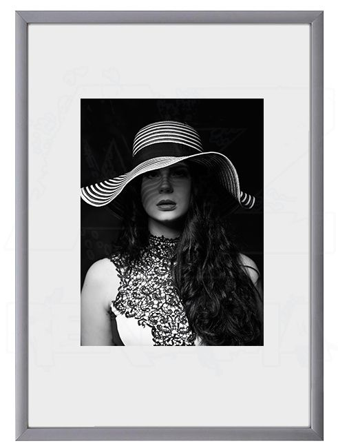 Hliníkový Foto rámeček 13x18 cm - Stříbrná matná