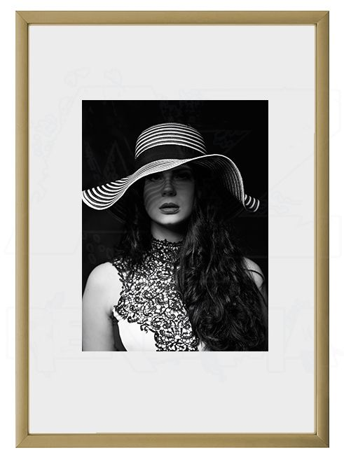 Hliníkový Foto rámeček 40x60 cm - Zlatá matná