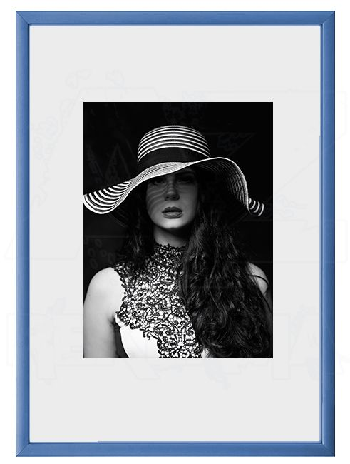 Hliníkový Foto rámeček A4 - Modrá