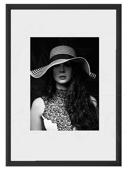 Hliníkový Foto rámeček A6 cm - Černá