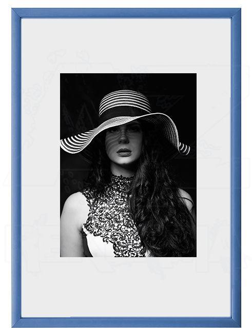 Hliníkový Foto rámeček A6 cm - Modrá