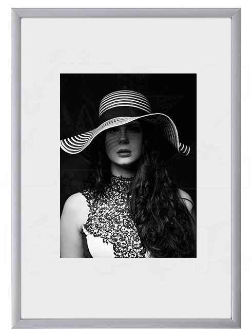 Hliníkový Foto rámeček A6 cm - Stříbrná lesklá