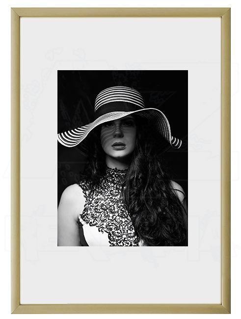 Hliníkový Foto rámeček A6 cm - Zlatá lesklá