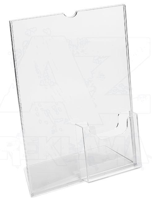 Plastový stojánek 1 list A4 + zásobník na 1/3 A4