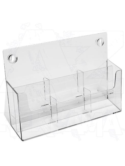 Plastový stojánek na letáky 6x DL 1/3A4 stojací