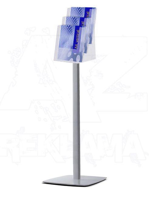 Prémiový stojan na podlahu se zásobníkem 3xA4 A-Z Reklama CZ