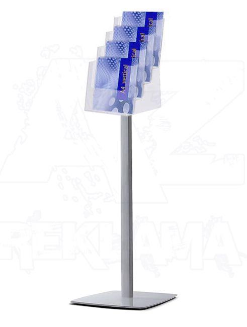 Prémiový stojan na podlahu se zásobníkem 4xA4 A-Z Reklama CZ