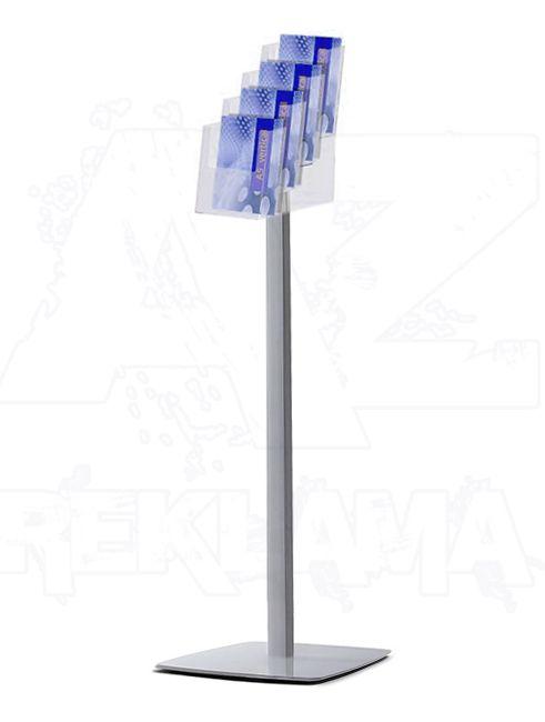 Prémiový stojan na podlahu se zásobníkem 4xA5 A-Z Reklama CZ